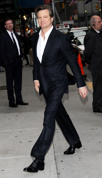 Colin Firth stops by the 'Late Show'