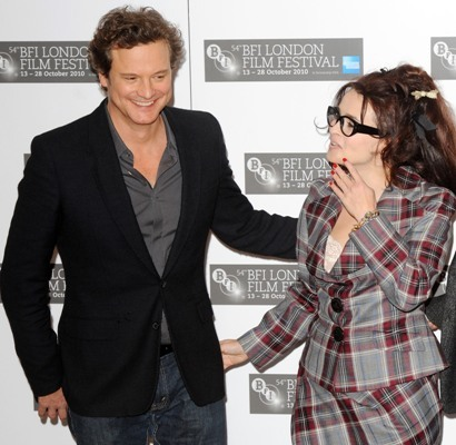 Colin Firth and Helena Bonham Carter arrive for photocall