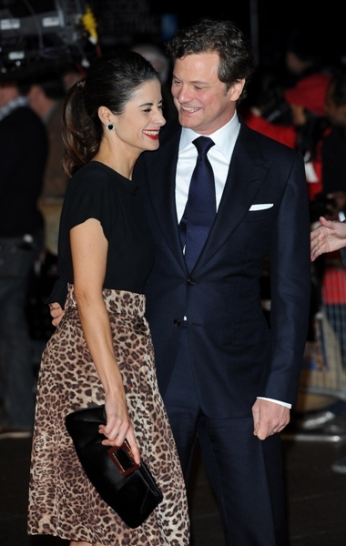 Colin Firth and wife Livia premiere 'King's Speech'