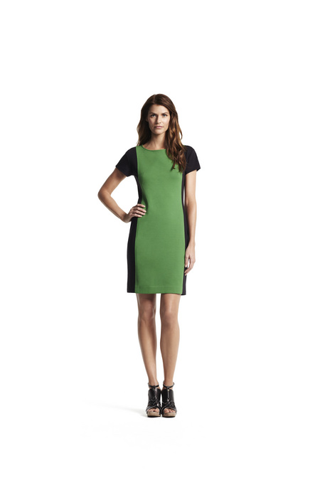 Fitted boatneck dress
