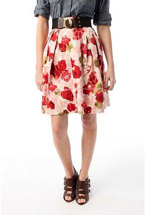 Floral Printed Full Skirt