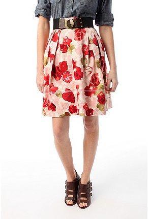 Floral Printed Full Skirt