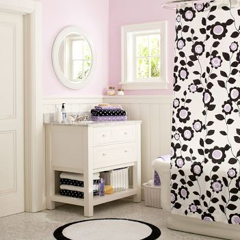 Floral Teen Bathroom - Bathroom decorating ideas