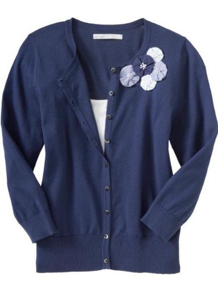 Flower Applique Cardigan