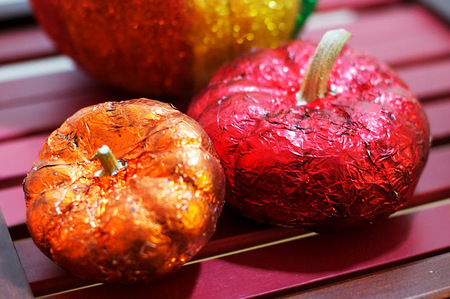 Foil pumpkins
