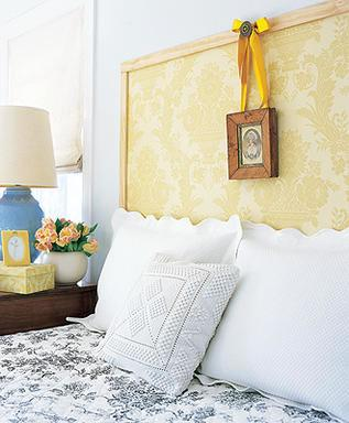 Wallpaper frame headboard
