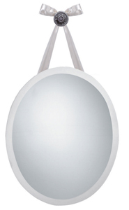 Frameless oval mirror