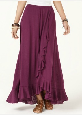 Plum Ruffled Long Maxi