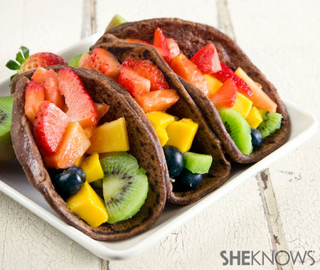 Healthy fruit tacos