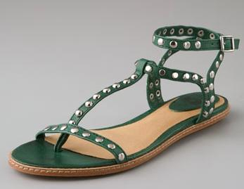 Frye Studded Thong Sandals