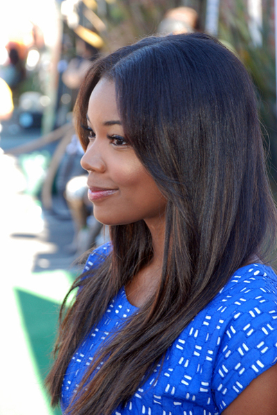 Gabrielle Union's long, straight hairstyle