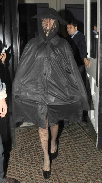 Lady Gaga in a pancho