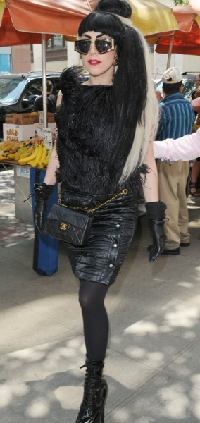 Lady Gaga with fanny pack