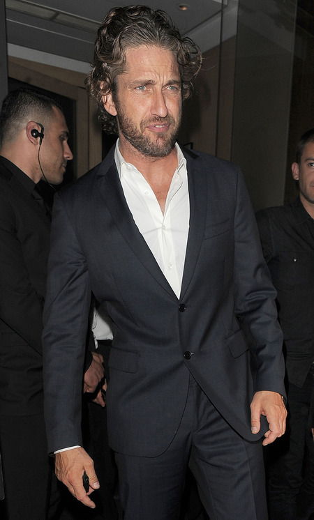 Gerard Butler out in London