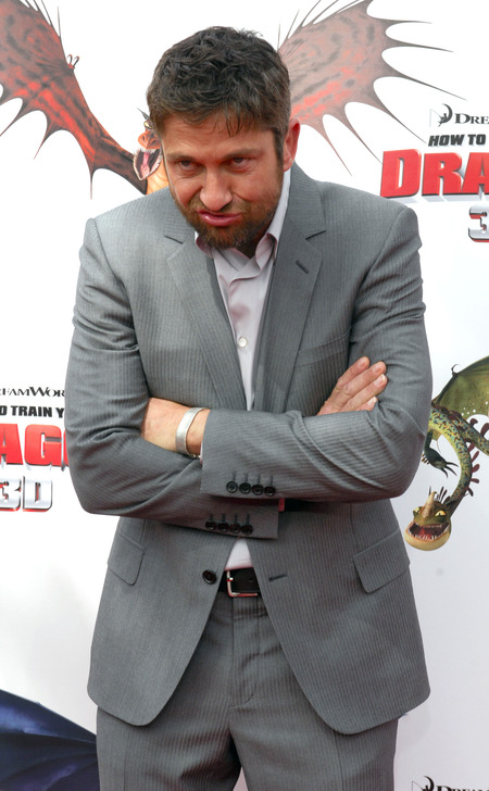 Gerard Butler at How to Train Your Dragon premiere