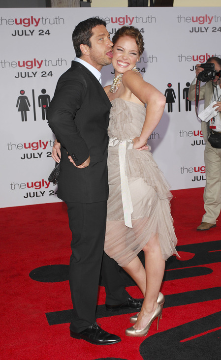 Gerard Butler and Kartherine Heigl at The Ugly Truth premiere
