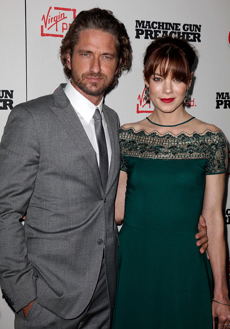 Gerard Butler and Michelle Monaghan at Machine Gun Preacher premiere