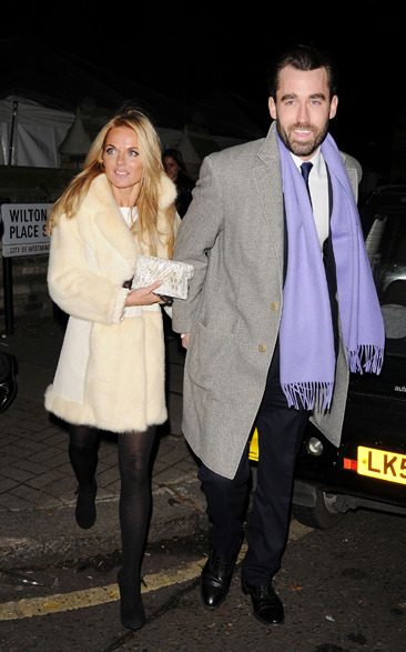 Geri Halliwell attends a carol service in London