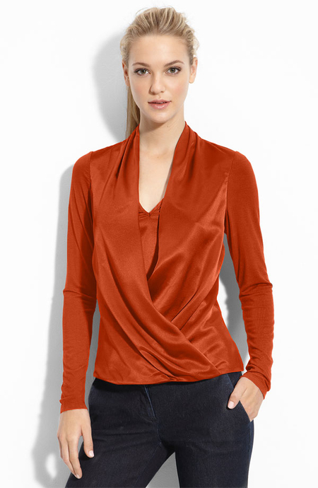 Gianetta Draped Faux Wrap Top