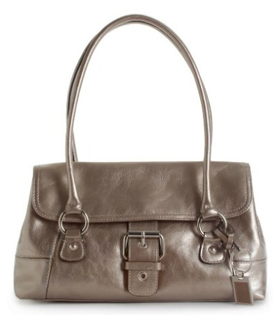 Glazed leather satchel