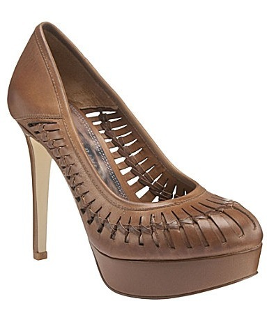 Cage Leather Pump