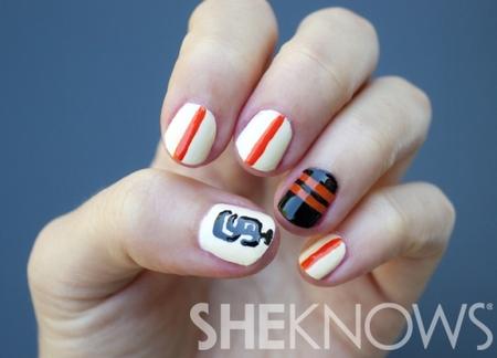 San Francisco Giants World Series nail art