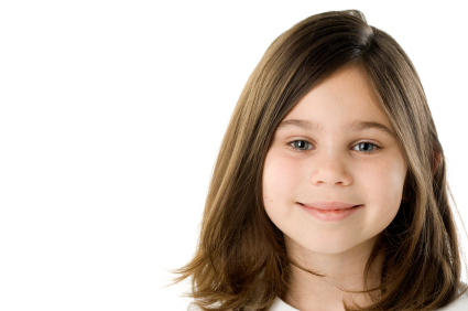 Girls hair - Medium length with soft layers