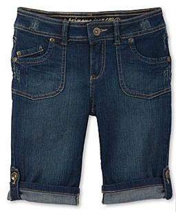 Girl's cuffed bermuda shorts