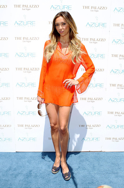 Giuliana Rancic at Azure Luxury Pool