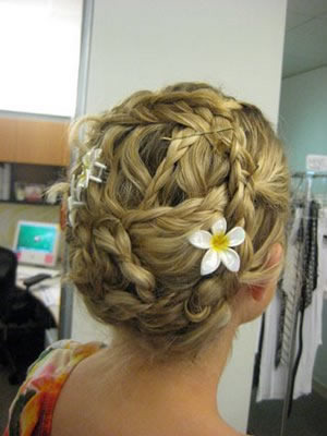 Pinned Braid Updo