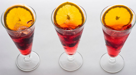 Holiday sangria punch