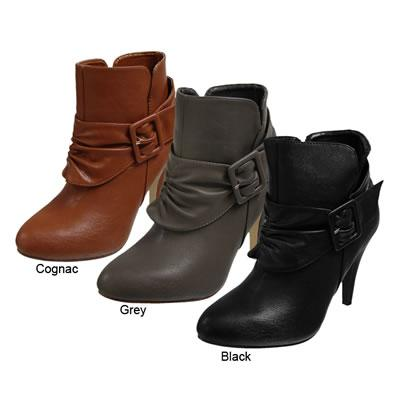 Glaze by Adi Designs High heel side buckle ankle boots