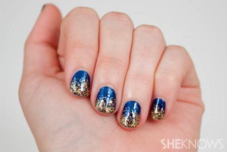 Glitter and glitz nail design