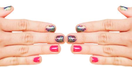 Siren Glitter Nails
