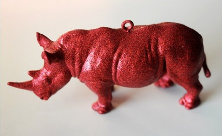 DIY glittery animal ornament