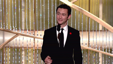 Joseph Gordon-Levitt at the Golden Globes