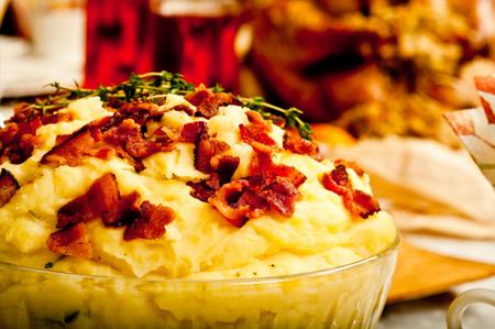 Holiday bacon crumble mashed potatoes
