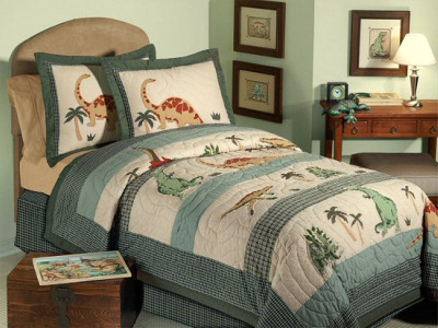 Green Dinosaur Bedding Set
