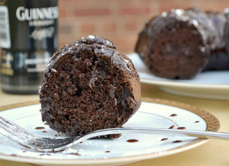 Guinness dark chocolate Bundt cake