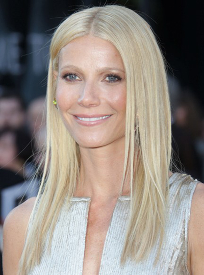 Gwyneth Paltrow's sleek, blonde hairstyle
