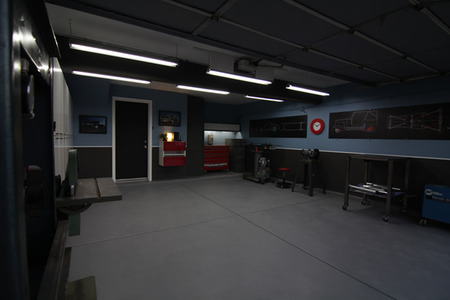 AFTER: The finished garage