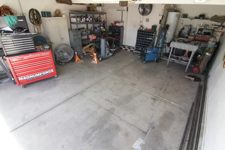 BEFORE: The crowded garage