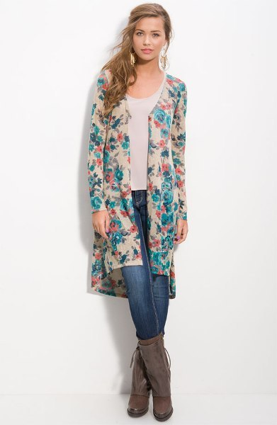 Floral Midi Cardigan