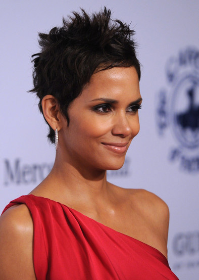 Halle Berry's touseled pixie hairstyle