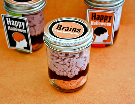 Brains in a jar cupcakes