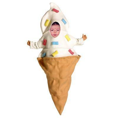 Ice Cream Baby Bunting Costume