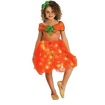 Lite Up Pumpkin Princess Costume