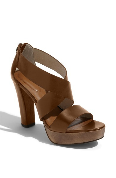 Strappy Leather Wedge Heel