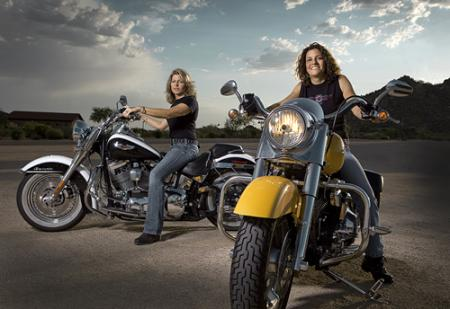 Harley-Davidson Riders Nat and Darnell
