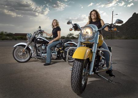 Harley-Davidson women Nat and Darnell
